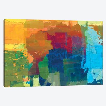 Pulsations II 3-Piece Canvas #MTH99} by Michael Tienhaara Canvas Art Print