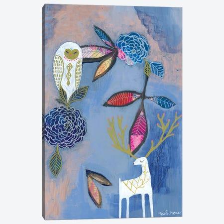 Owl & Deer Canvas Print #MTI21} by Mati Rose Canvas Print