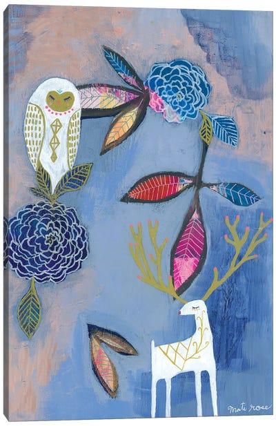 Owl & Deer Canvas Art Print