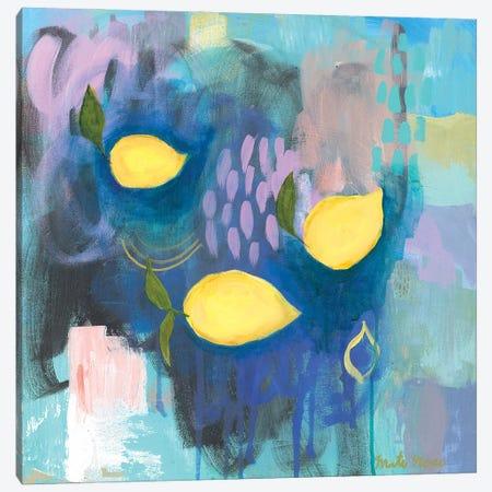 Tropea Lemons Canvas Print #MTI33} by Mati Rose Canvas Artwork