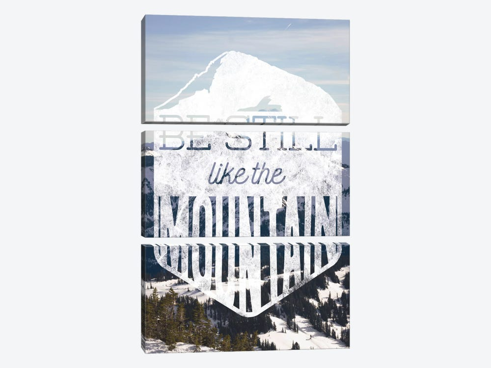Be Still Like the Mountain by 5by5collective 3-piece Canvas Wall Art