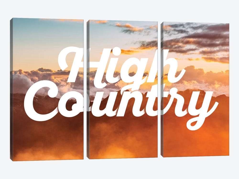 High Country by 5by5collective 3-piece Canvas Art Print