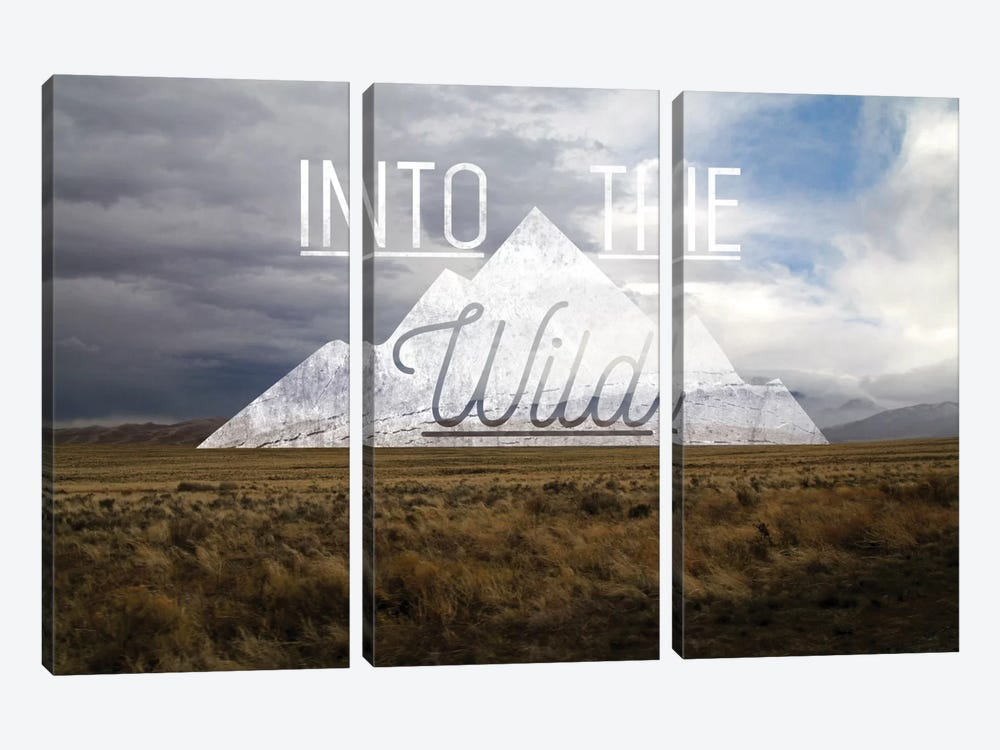 Into the Wild by 5by5collective 3-piece Canvas Wall Art