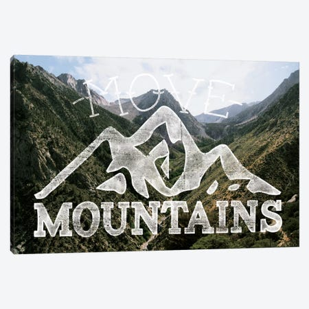 Move Mountains Canvas Print #MTM4} by 5by5collective Canvas Wall Art