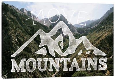 Move Mountains Canvas Art Print