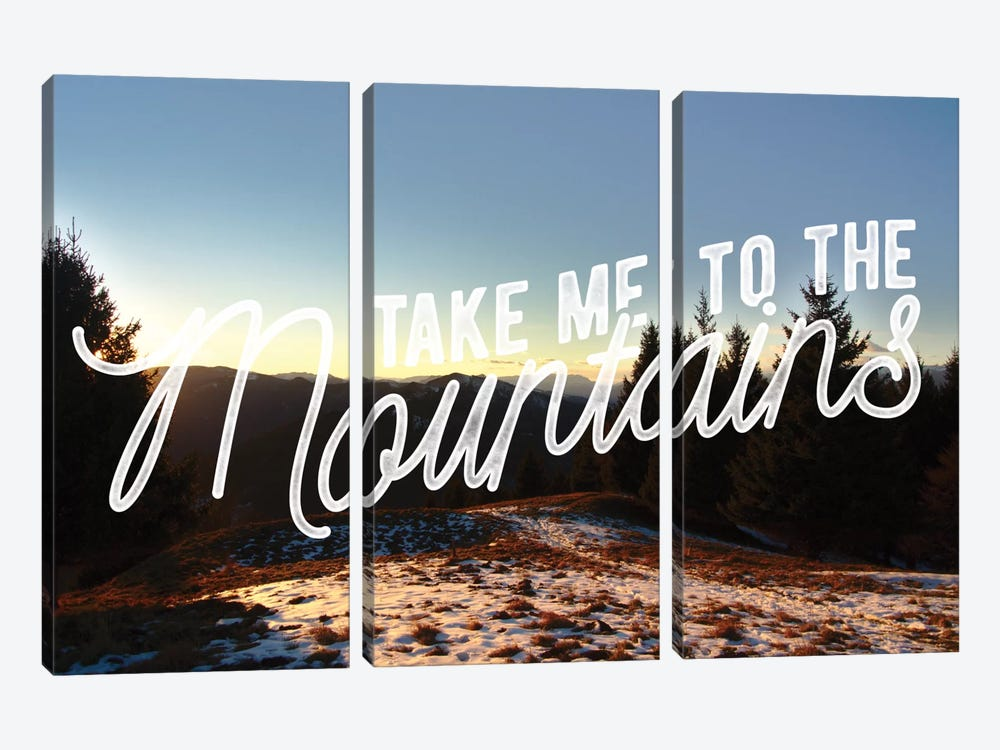 Take Me to the Mountains by 5by5collective 3-piece Canvas Artwork
