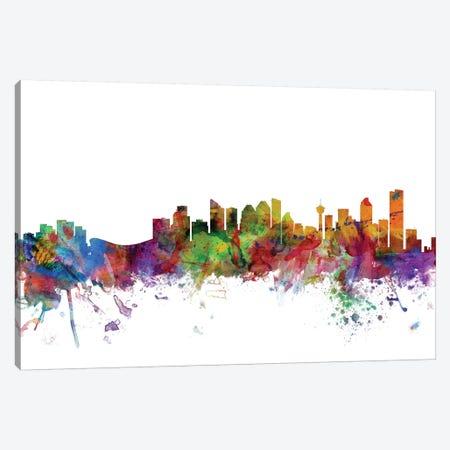 Calgary, Canada Skyline Canvas Print #MTO1000} by Michael Tompsett Canvas Wall Art