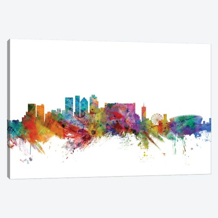Cape Town, South Africa Skyline Canvas Print #MTO1003} by Michael Tompsett Canvas Wall Art