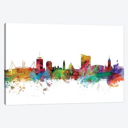 Cardiff, Wales Skyline Canvas Print #MTO1004} by Michael Tompsett Art Print