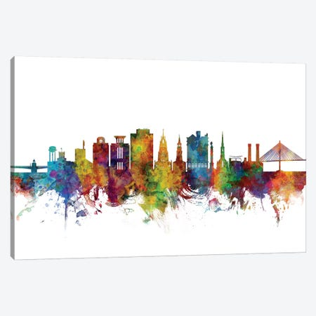 Charleston, South Carolina Skyline Canvas Print #MTO1007} by Michael Tompsett Art Print
