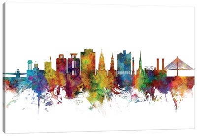 Charleston, South Carolina Skyline Canvas Art Print