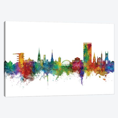 Cheltenham, England Skyline Canvas Print #MTO1009} by Michael Tompsett Canvas Art