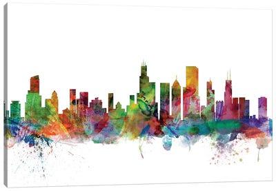 Chicago, Illinois Skyline Canvas Art Print
