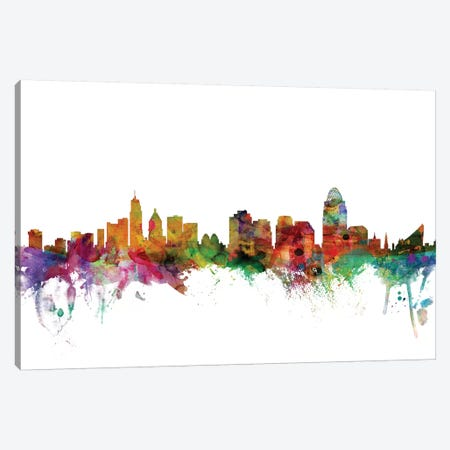 Cincinnati, Ohio Skyline Canvas Print #MTO1012} by Michael Tompsett Canvas Art Print