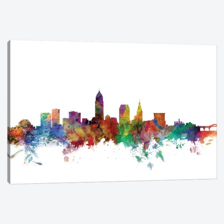 Cleveland, Ohio Skyline Canvas Print #MTO1013} by Michael Tompsett Canvas Art Print