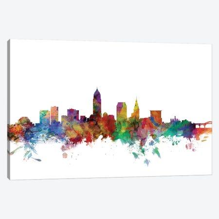 Cleveland, Ohio Skyline Canvas Print #MTO1013} by Michael Tompsett Canvas Art Print