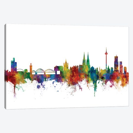 Cologne, Germany Skyline Canvas Print #MTO1014} by Michael Tompsett Canvas Art