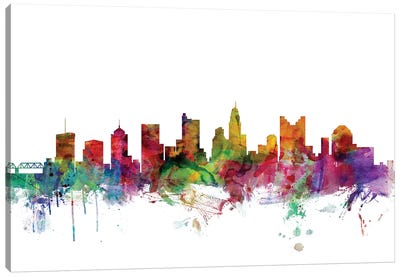 Columbus, Ohio Skyline Canvas Art Print