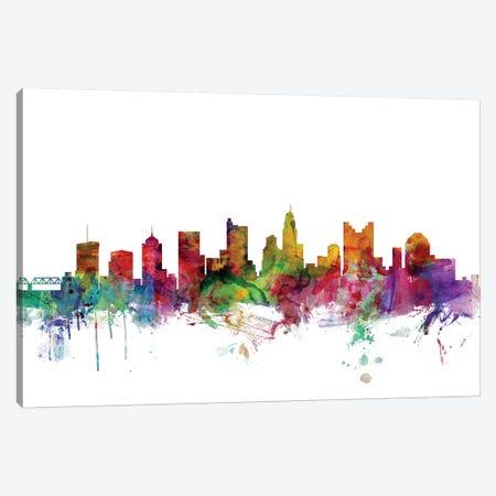 Columbus, Ohio Skyline Canvas Print #MTO1015} by Michael Tompsett Canvas Artwork