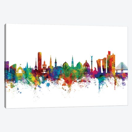 Copenhagen, Denmark Skyline Canvas Print #MTO1016} by Michael Tompsett Canvas Artwork