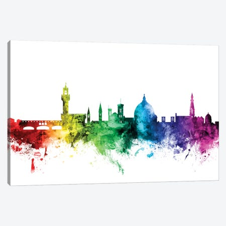 Florence, Italy Canvas Print #MTO101} by Michael Tompsett Canvas Artwork