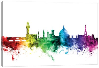 Rainbow Skyline Series: Florence, Italy Canvas Print #MTO101
