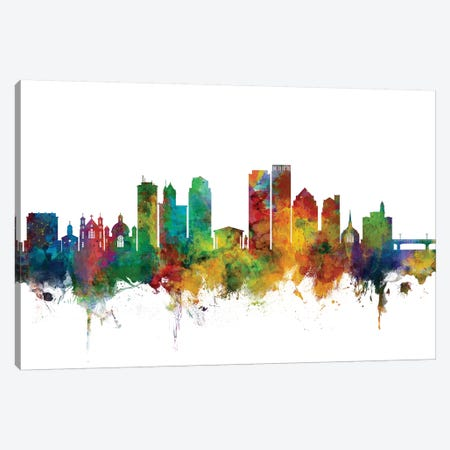 Dayton, Ohio Skyline Canvas Print #MTO1020} by Michael Tompsett Canvas Wall Art