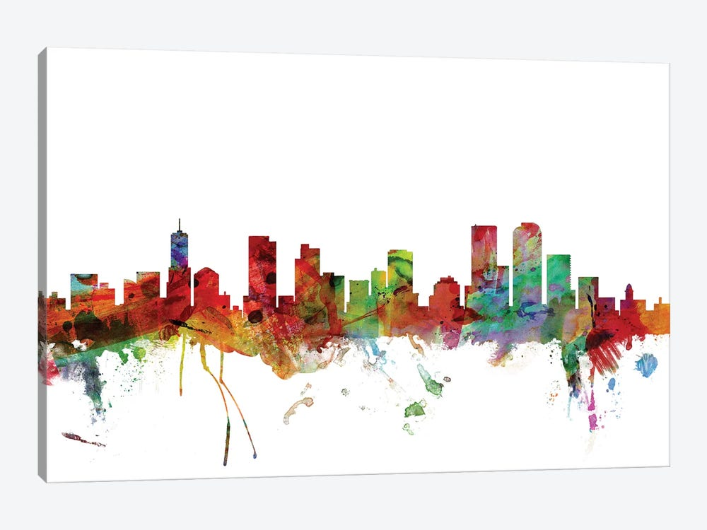 Denver, Colorado Skyline by Michael Tompsett 1-piece Canvas Artwork