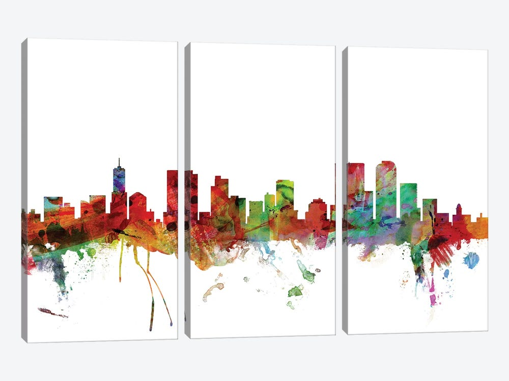 Denver, Colorado Skyline by Michael Tompsett 3-piece Canvas Artwork