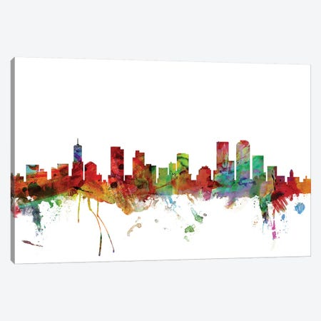 Denver, Colorado Skyline Canvas Print #MTO1021} by Michael Tompsett Canvas Artwork