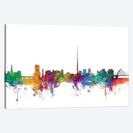 Dublin, Ireland Skyline Canvas Print #MTO1028} by Michael Tompsett Canvas Art