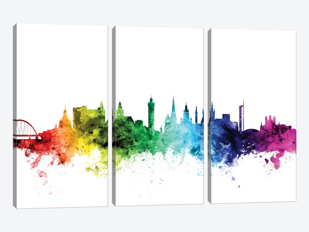 Glasgow, Scotland, United Kingdom by Michael Tompsett 3-piece Canvas Art