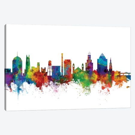 Durham, North Carolina Skyline Canvas Print #MTO1031} by Michael Tompsett Canvas Art Print