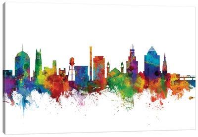 Durham, North Carolina Skyline Canvas Art Print