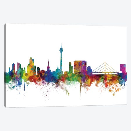 Düsseldorf, Germany Skyline Canvas Print #MTO1032} by Michael Tompsett Art Print