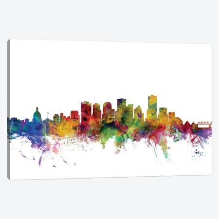 Edmonton, Canada Skyline Canvas Print #MTO1034} by Michael Tompsett Canvas Wall Art
