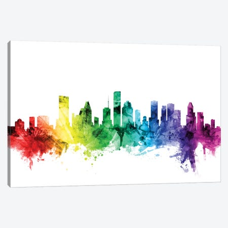 Houston, Texas, USA Canvas Print #MTO103} by Michael Tompsett Canvas Artwork