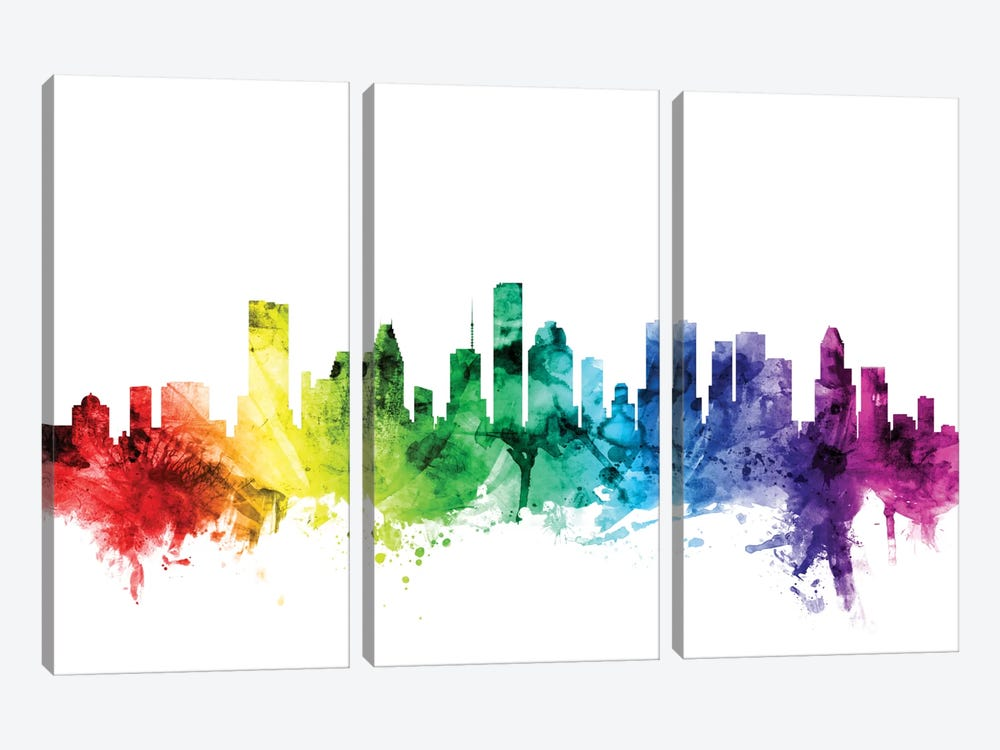 Houston, Texas, USA by Michael Tompsett 3-piece Canvas Print