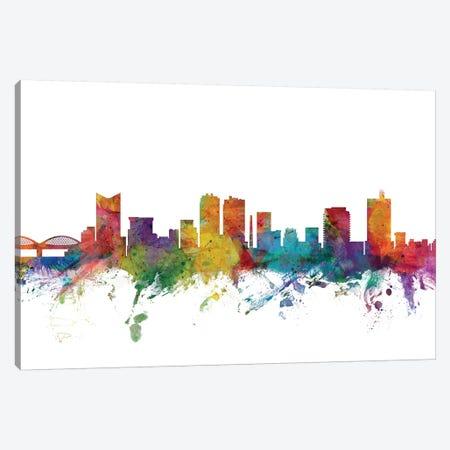 Fort, Worth Texas Skyline Canvas Print #MTO1041} by Michael Tompsett Canvas Wall Art