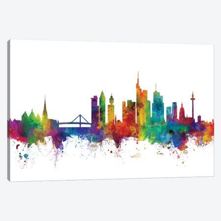 Frankfurt, Germany Skyline Canvas Print #MTO1042} by Michael Tompsett Canvas Art