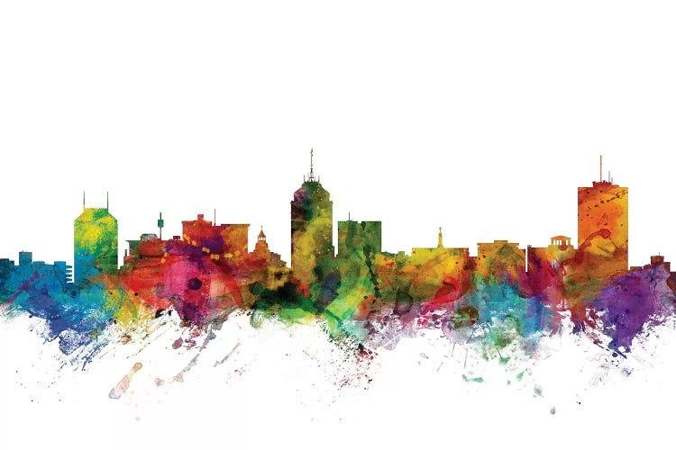 Fresno California Skyline Canvas Art By Michael Tompsett Icanvas