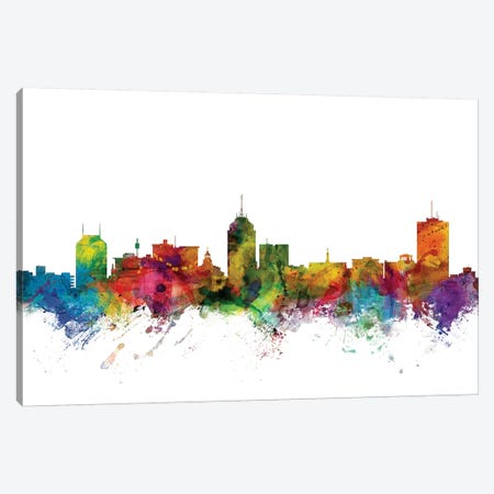 Fresno, California Skyline Canvas Print #MTO1043} by Michael Tompsett Canvas Art