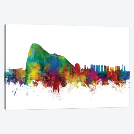Gibraltar Skyline Canvas Print #MTO1047} by Michael Tompsett Art Print