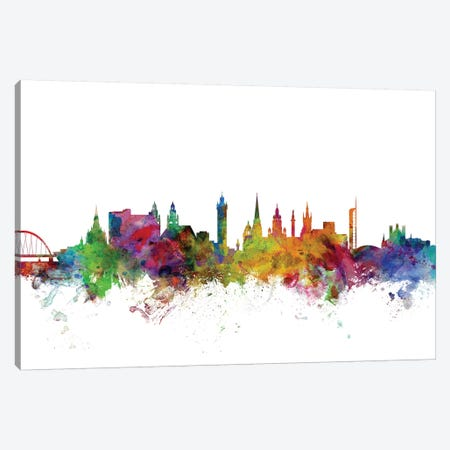 Glasgow, Scotland Skyline Canvas Print #MTO1048} by Michael Tompsett Canvas Artwork