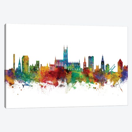 Gloucester, England Skyline Canvas Print #MTO1049} by Michael Tompsett Canvas Artwork