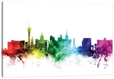 Rainbow Skyline Series: Las Vegas, Nevada, USA Canvas Print #MTO104