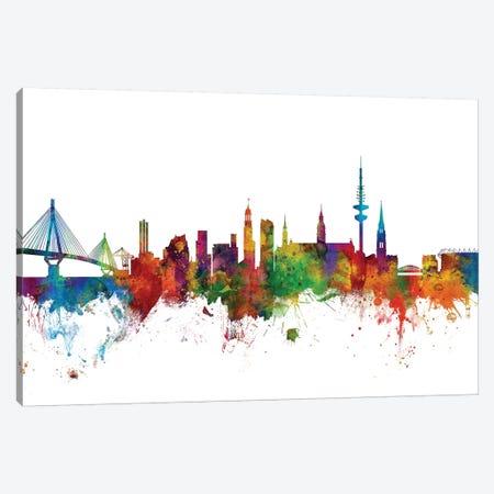 Hamburg, Germany Skyline Canvas Print #MTO1054} by Michael Tompsett Canvas Wall Art