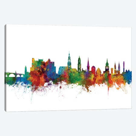 Heidelberg, Germany Skyline Canvas Print #MTO1056} by Michael Tompsett Canvas Wall Art