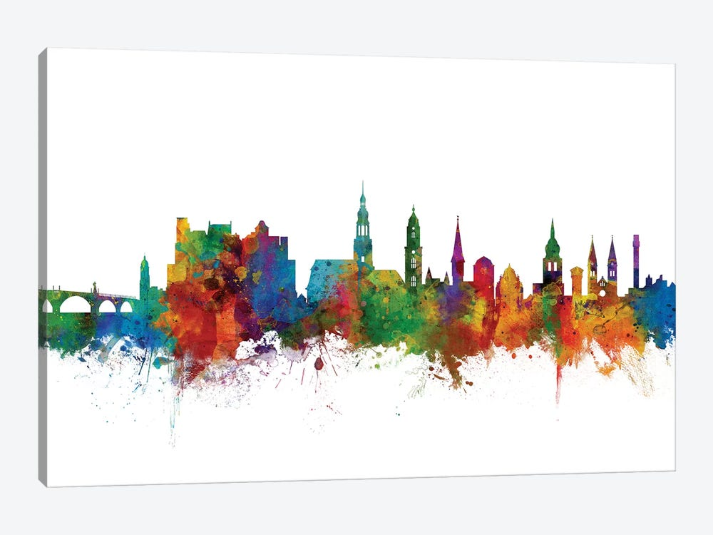 Heidelberg, Germany Skyline by Michael Tompsett 1-piece Canvas Art