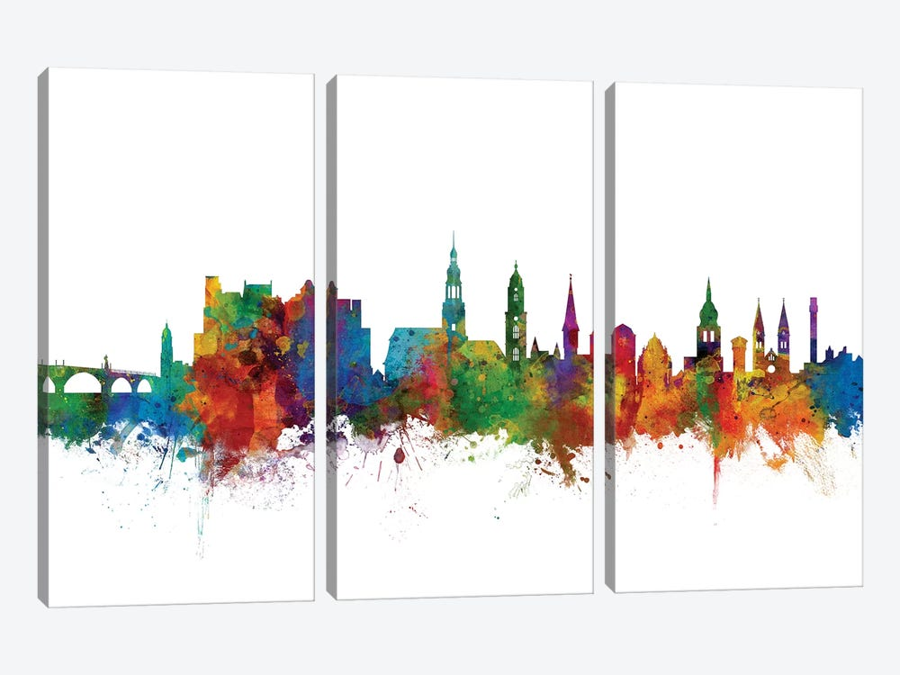 Heidelberg, Germany Skyline by Michael Tompsett 3-piece Canvas Artwork